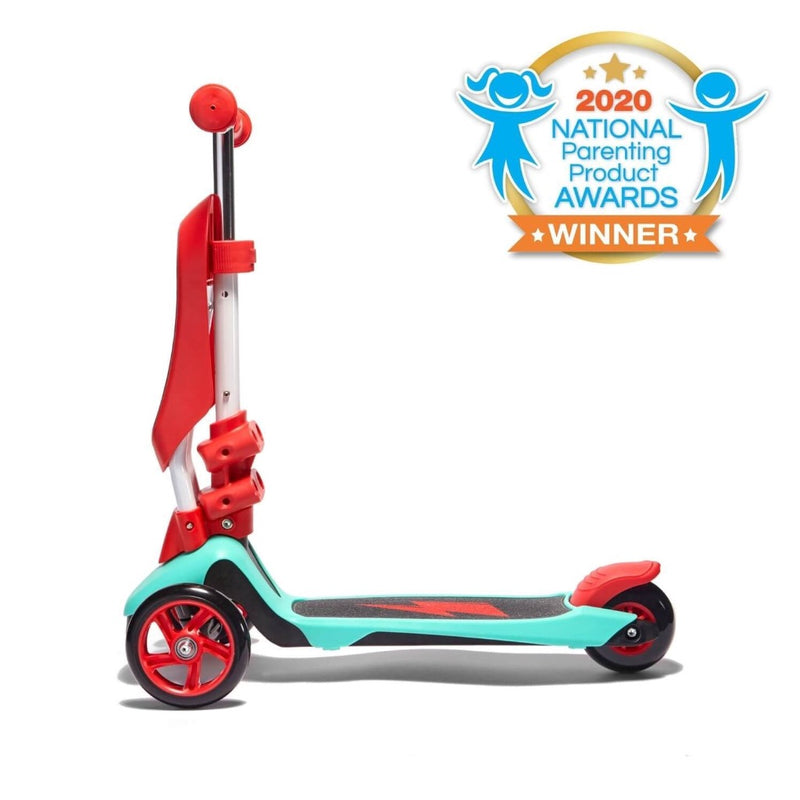 SVOLTA Ace 2-in-1 Sit and Stand Convertible Scooter in Red