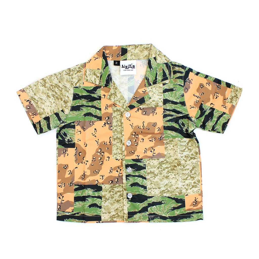 Let's Kids What the Camo Button Up