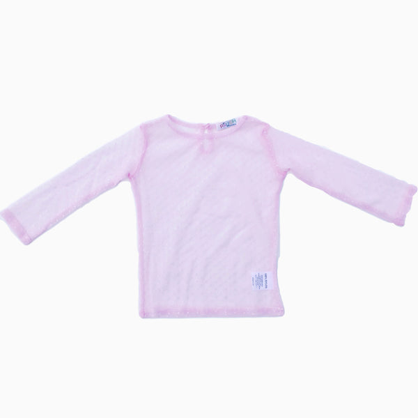Paush Long Sleeve Mesh tops in Light Pink | Sweet Threads