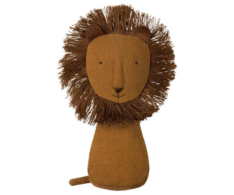 Alimrose Linen Mini Lion Rattle