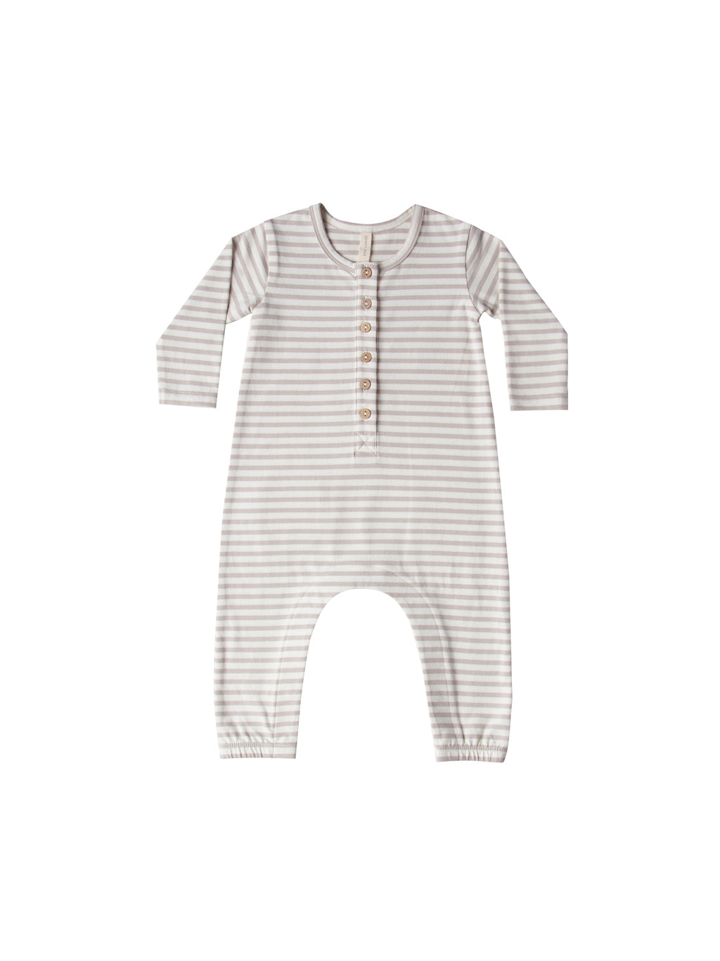 Quincy Mae Longsleeve Jumpsuit in Fog Stripe