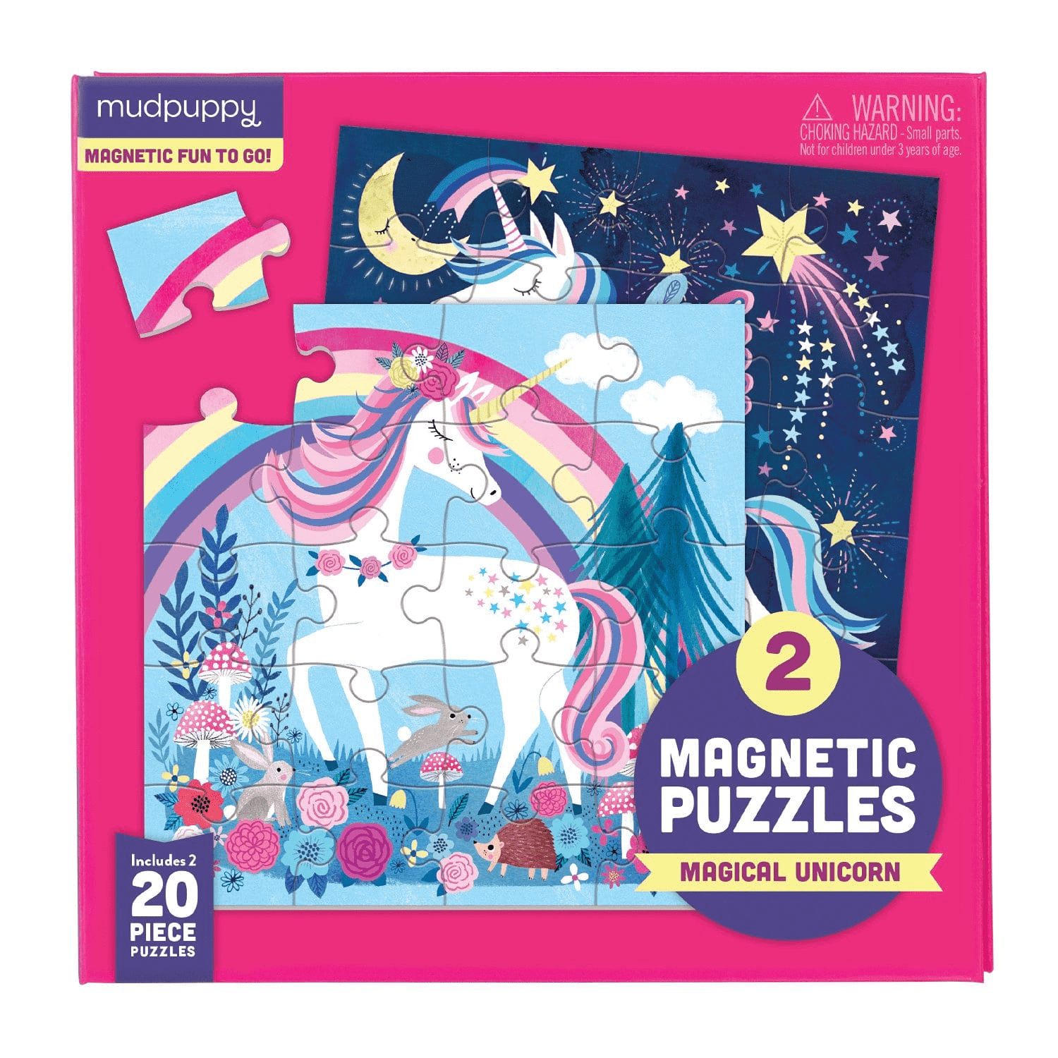 Mudpuppy Magical Unicorn Magnetic Puzzle | Sweet Threads