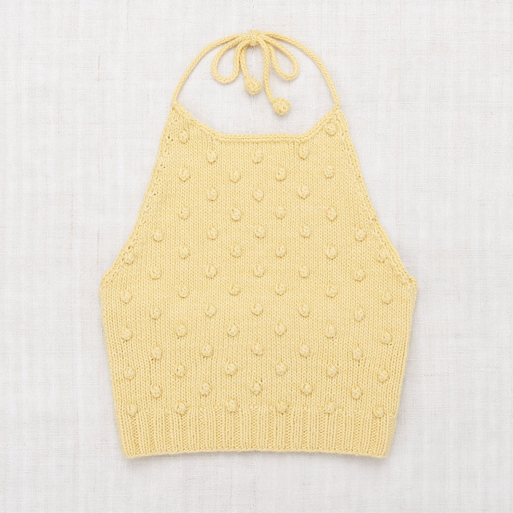 Misha & Puff Popcorn Halter Top in Straw