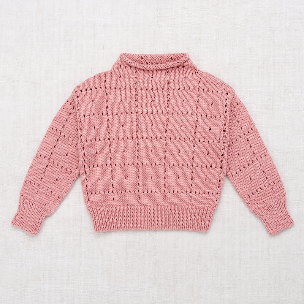 Misha & Puff Windowpane Pullover in Rose Blush