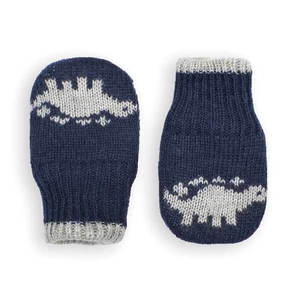 Jojo Maman Bebe Dinosaur Mittens in Navy | Sweet Threads