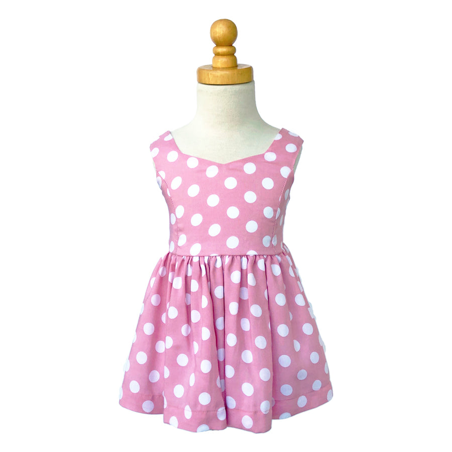 Paush The Lucy Dress in Pink Polkda Dot | Sweet Threads