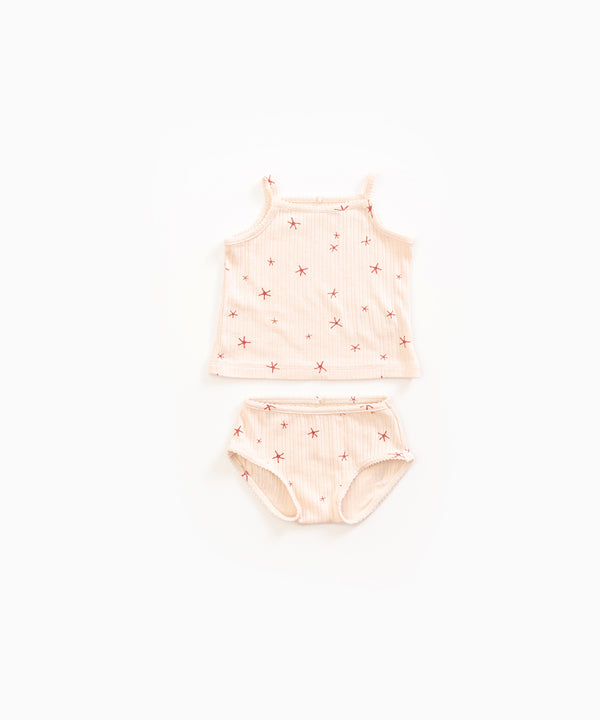 Play Up Ribbed Starfish Tank and Bloomer Set
