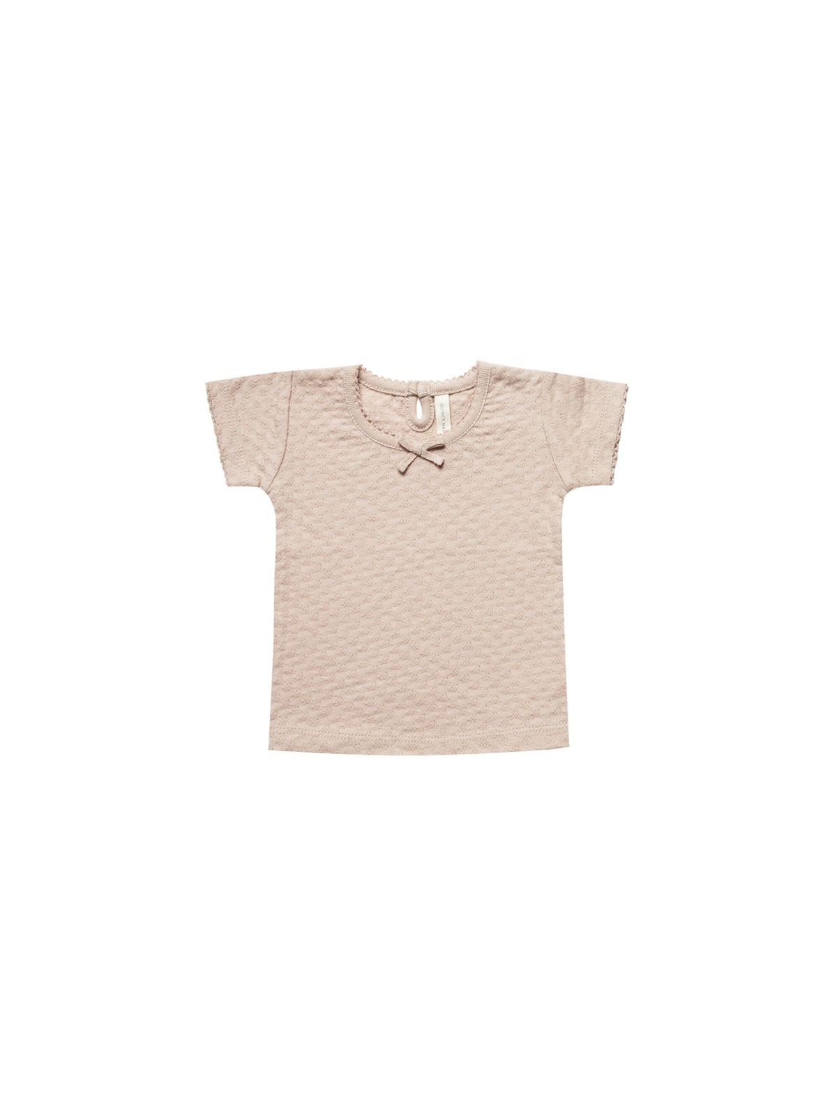 Quincy Mae Pointelle Tee in Rose | Sweet Threads