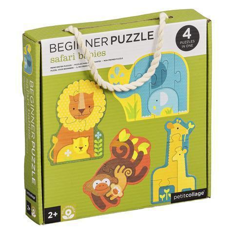 Petit Collage Beginner Puzzle | Safari Babies