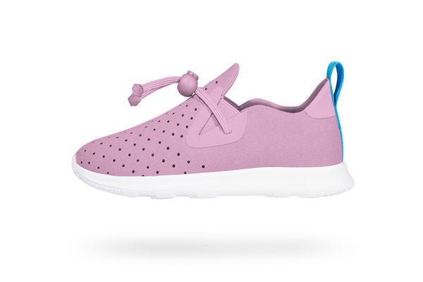 Native Shoes  Apollo Moc Child in Pink/Shell White | Sweet Threads