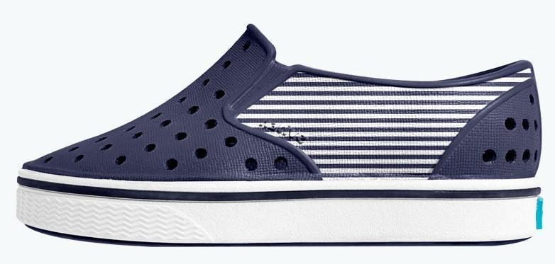 Native Shoes Miles Child Regatta Blue / Shell White / Striped Block