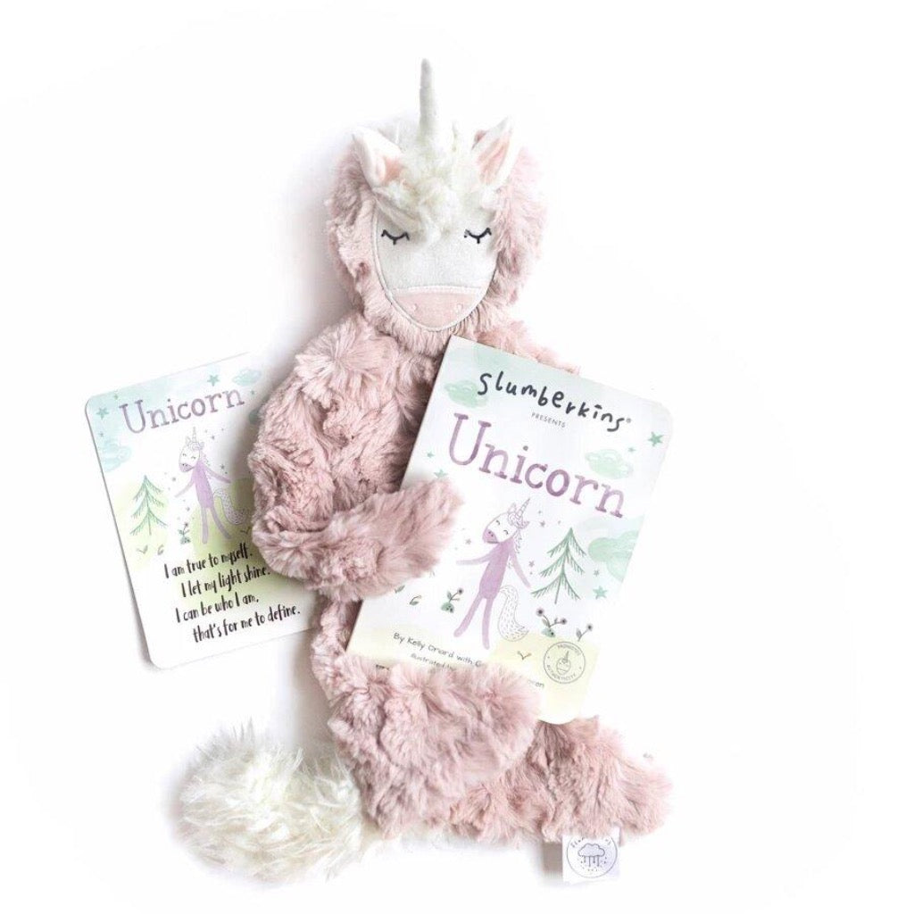 Slumberkins Unicorn Authenticity Snuggler Bundle | Sweet Threads