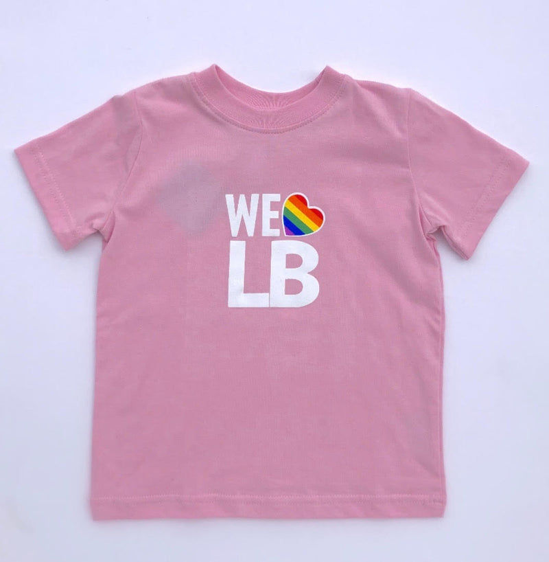 We Love LB Tee in Pink | Sweet Threads
