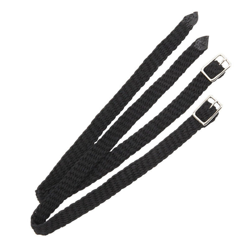 Nylon Spur Straps in Black.