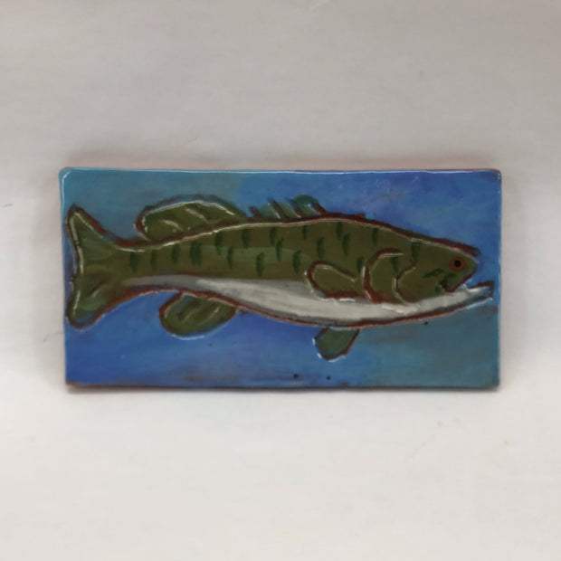 Ceramic Fish Trivet - Smallmouth Bass - The Painted Trout