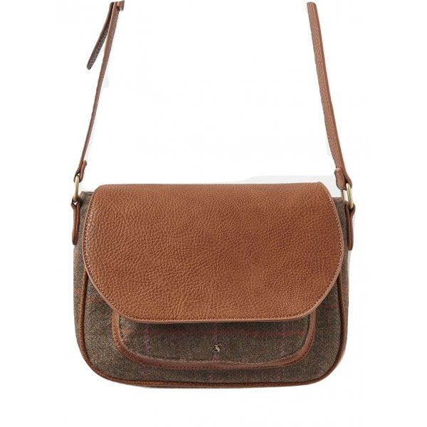 Joules Darby Tweed Saddle Purse, Hardy Tweed