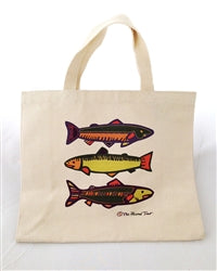 Tote Bag - 3 Colorful Fish - The Painted Trout