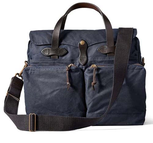 FILSON 24-Hour Tin Briefcase Navy - The Painted Trout