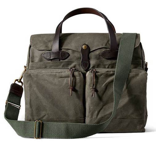 FILSON 24-Hour Tin Briefcase Otter Green - The Painted Trout