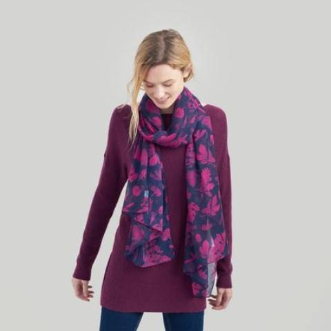 Joules Wensley Navy Botanical Scarf