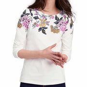 Joules Harbour Jersey Print Cream Floral
