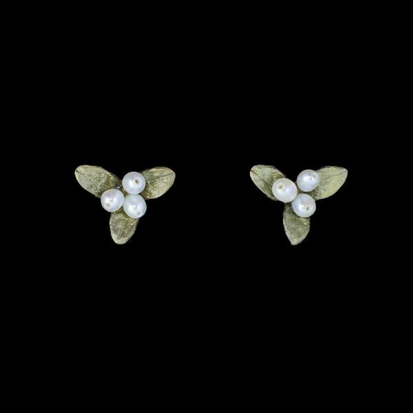 Michael Michaud Petite Leaf Earrings - Small Stud