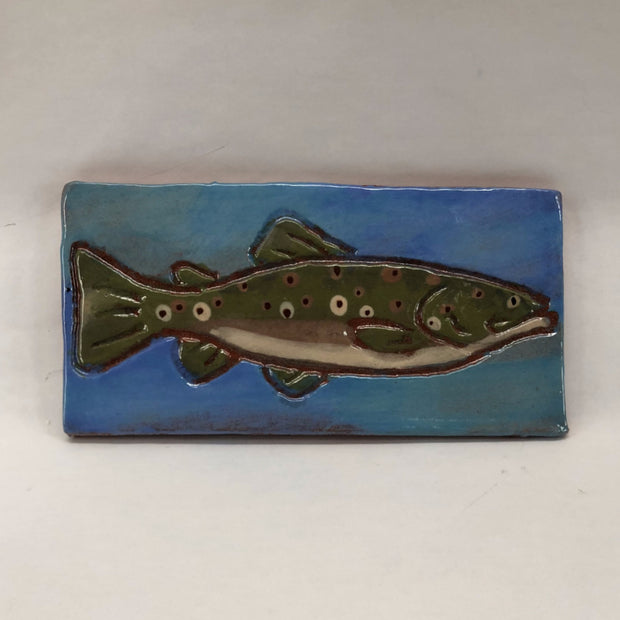 Ceramic Fish Trivet - Brown Trout - The Painted Trout