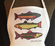 APRON - Three Colorful Fish - The Painted Trout