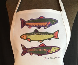 APRON - Three Colorful Fish