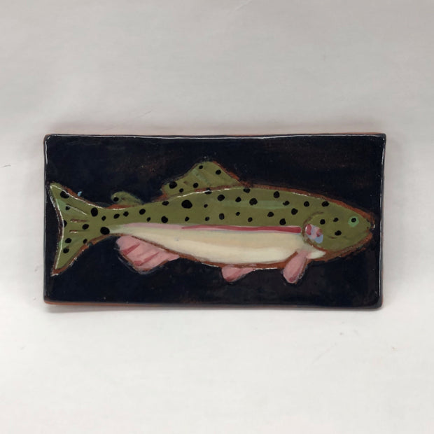 Ceramic Fish Trivet - Rainbow Trout - The Painted Trout