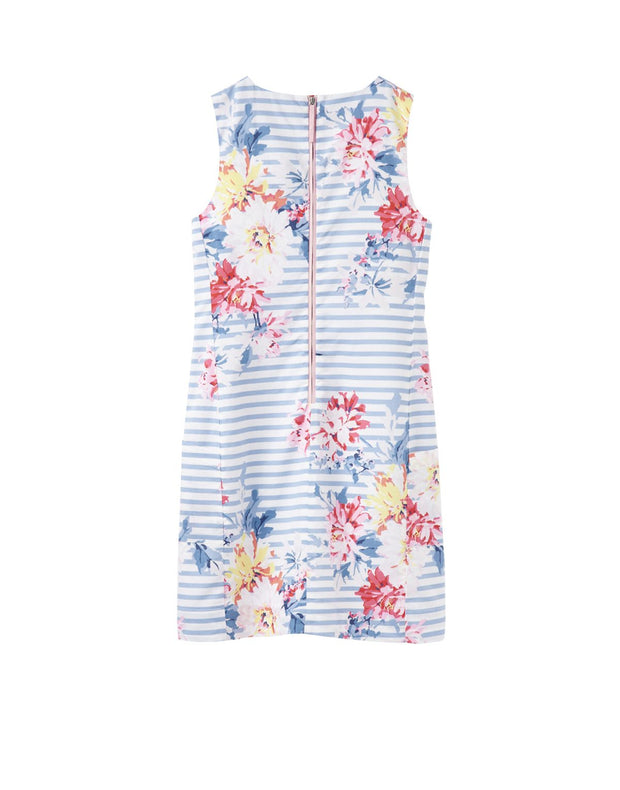 JOULES Elayna Notch Neck Blue Stripe Shift Dress
