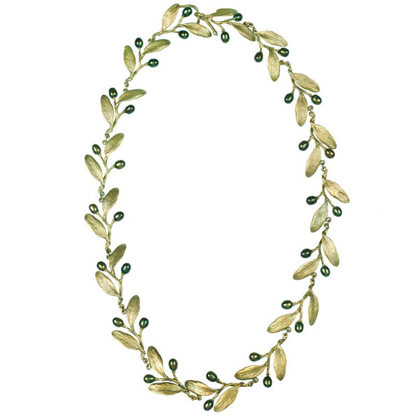 "Michael Michaud Olive Necklace - 18"" Contour"