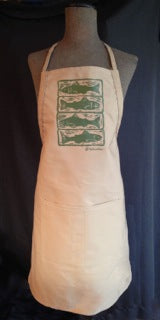 APRON - Trout Woodcut