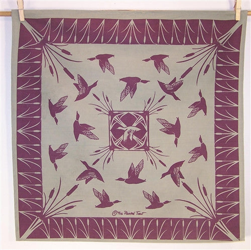 Bandanna, Wild Ducks in Clay and Plum