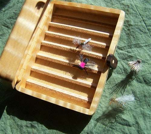 FLY BOX:  Master Artisan Curly Maple - The Painted Trout
