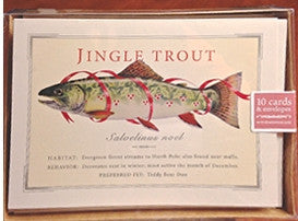 Holiday Cards: Jingle Trout - Box of 10 - The Painted Trout