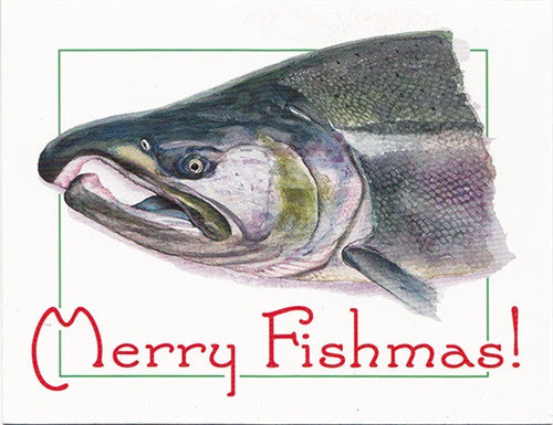 Holiday Cards: Merry Fishmas - Set of 12 - The Painted Trout