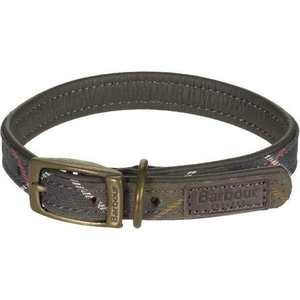 BARBOUR Classic Tartan Leather Dog Collar - The Painted Trout