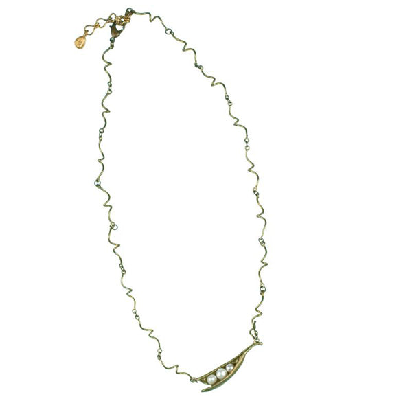 Michael Michaud Pea Pod Necklace - Twigs