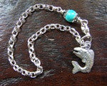 Silver & Turquoise Bracelet - The Painted Trout