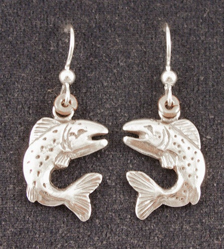 LEAPING FISH Sterling Silver Earrings - The Painted Trout