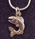 LEAPING FISH PENDANT NECKLACE - The Painted Trout