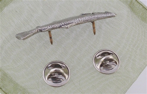Pewter Pin: Leaping Atlantic Salmon - The Painted Trout
