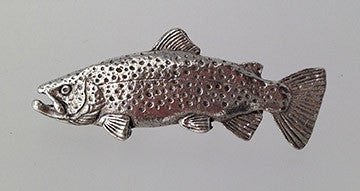 Pewter Pin: Brown Trout, Large - The Painted Trout
