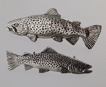 Pewter Pin: Brown Trout - The Painted Trout