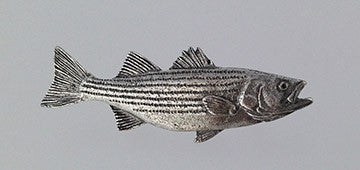 Pewter Pin: Striped Bass