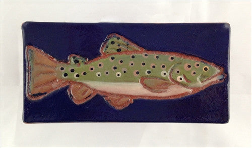 Ceramic Tile: Brown Trout - The Painted Trout