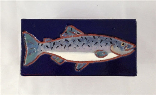 Ceramic Tile: Salmon - The Painted Trout