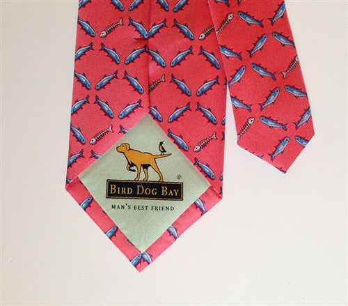 Silk Necktie: Shotgun Shells, Coral - The Painted Trout
