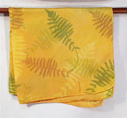 Silk Pocket Square, Ferns in Green, Rust and Gold - The Painted Trout